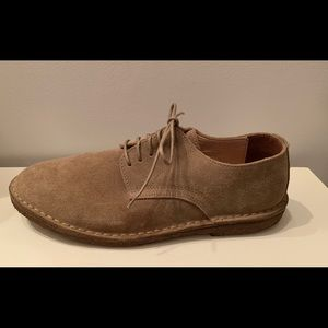 J. Crew tan suede men's tie loafers 9